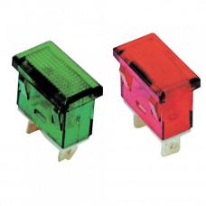 Лампа сигнальная YL238-01 зеленая неон 230В прямоугольная (50шт/упак) ЭНЕРГИЯ