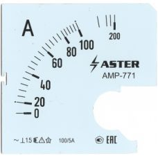Шкала к амперметру AMP-771 100/5 А