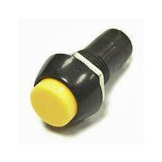 Кнопка YL232-01 d11мм круглая желтая цилиндр 1НО (100шт/упак) ЭНЕРГИЯ
