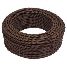 Bironi витой провод матовый 2*0,75 коричневый ГОСТ