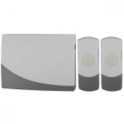 Звонок ЭРА C91-2 беспроводной, две кнопки (10/60/360)