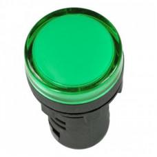 Лампа сигнальная AD22С d16мм зеленая LED 230В металлический корпус (50шт/упак) ЭНЕРГИЯ