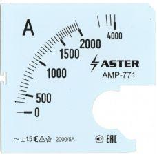 Шкала к амперметру AMP-771 2000/5 А