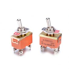 Выключатель-тумблер 1221 вкл-откл 2 группы контактов (20шт/упак) ЭНЕРГИЯ