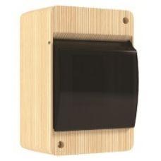 QUEL Щит навесной 2-4 мод. проз. черная, сосна, УПМ, IP40