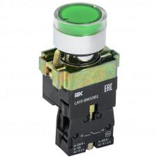 Кнопка XB2-BW3361 d22мм с подсветкой зеленая неон 230В 1НО ЭНЕРГИЯ
