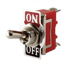 Выключатель-тумблер 1322 вкл-откл-вкл 2 группы контактов (20шт/упак) ЭНЕРГИЯ
