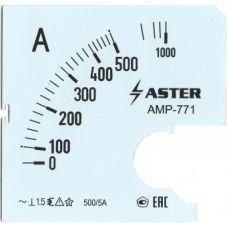 Шкала к амперметру AMP-771 500/5 А