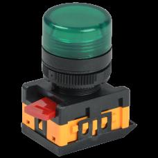 Лампа сигнальная XB2-EV163 d22мм зеленая неон 230В цилиндр ЭНЕРГИЯ