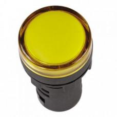 Лампа сигнальная AD22-22D d22мм желтая LED 24В AC/DC цилиндр ЭНЕРГИЯ