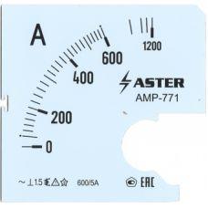 Шкала к амперметру AMP-771 600/5 А