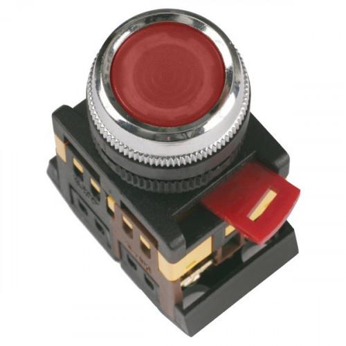Кнопка ALW2-611 d22мм с подсветкой красная неон 230В 1НО+1НЗ ЭНЕРГИЯ