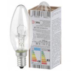 Лампа накаливания ЭРА ДС (B36) свечка 40Вт 230В Е14 в гофре