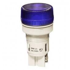 Лампа сигнальная XB2-EV166 d22мм синяя неон 230В цилиндр ЭНЕРГИЯ